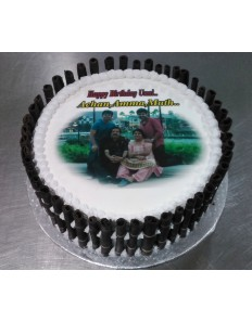 Chocolate Photo Sheet cake