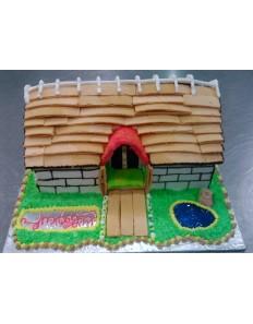 Lovely Home  ( Custom Cake )