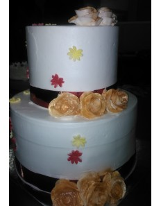 Two Step Wedding Cake