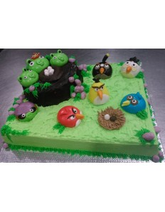 Angry Bird Full Team (Custom Cake)